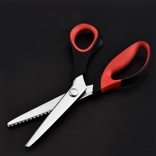 Zig Zag Cut Scissors For Sewing Dressmaker Tailor Cutting Pinking Shears Leather Craft Fabric Textile DENIM