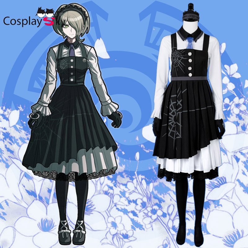 Danganronpa V3: Killing Harmony Kirumi Tojo Maid Dress Halloween Carnival Cosplay Costume custom any size