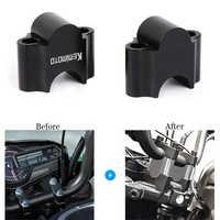 """KEMiMOTO 7/8 """"22mm Für Can am OUTLANDER Für Honda TRX450 MT07 Z900 ATV Lenker Clmap Lenker steigleitungen lenkung rad montieren"""