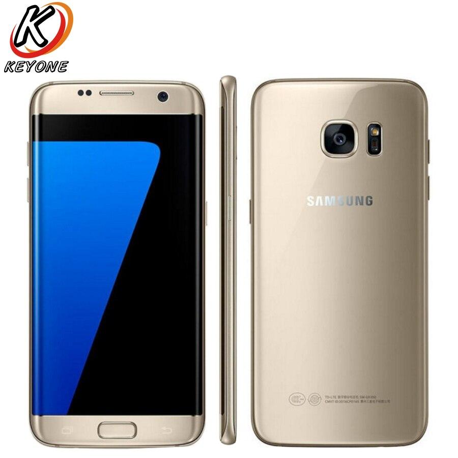 D'origine Samsung Galaxy S7 Bord G9350 LTE Mobile Téléphone 5.5 Quad Core 4 gb RAM 64 gb ROM 12MP 2560x1440px Android 6.0 Téléphone Intelligent