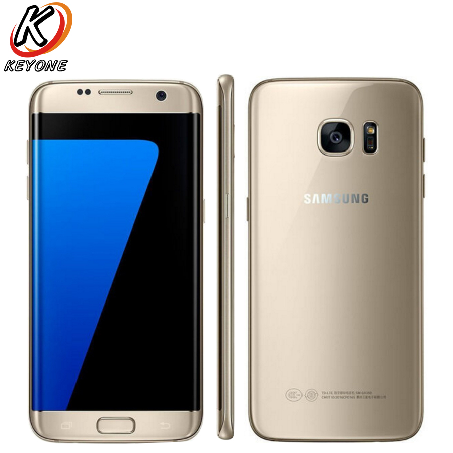 "New Samsung Galaxy S7 Edge G9350 4G LTE Mobile Phone 5.5"" Quad Core 4GB RAM 64GB ROM 12MP 2560 x1440px Android 6.0 Smart Phone"