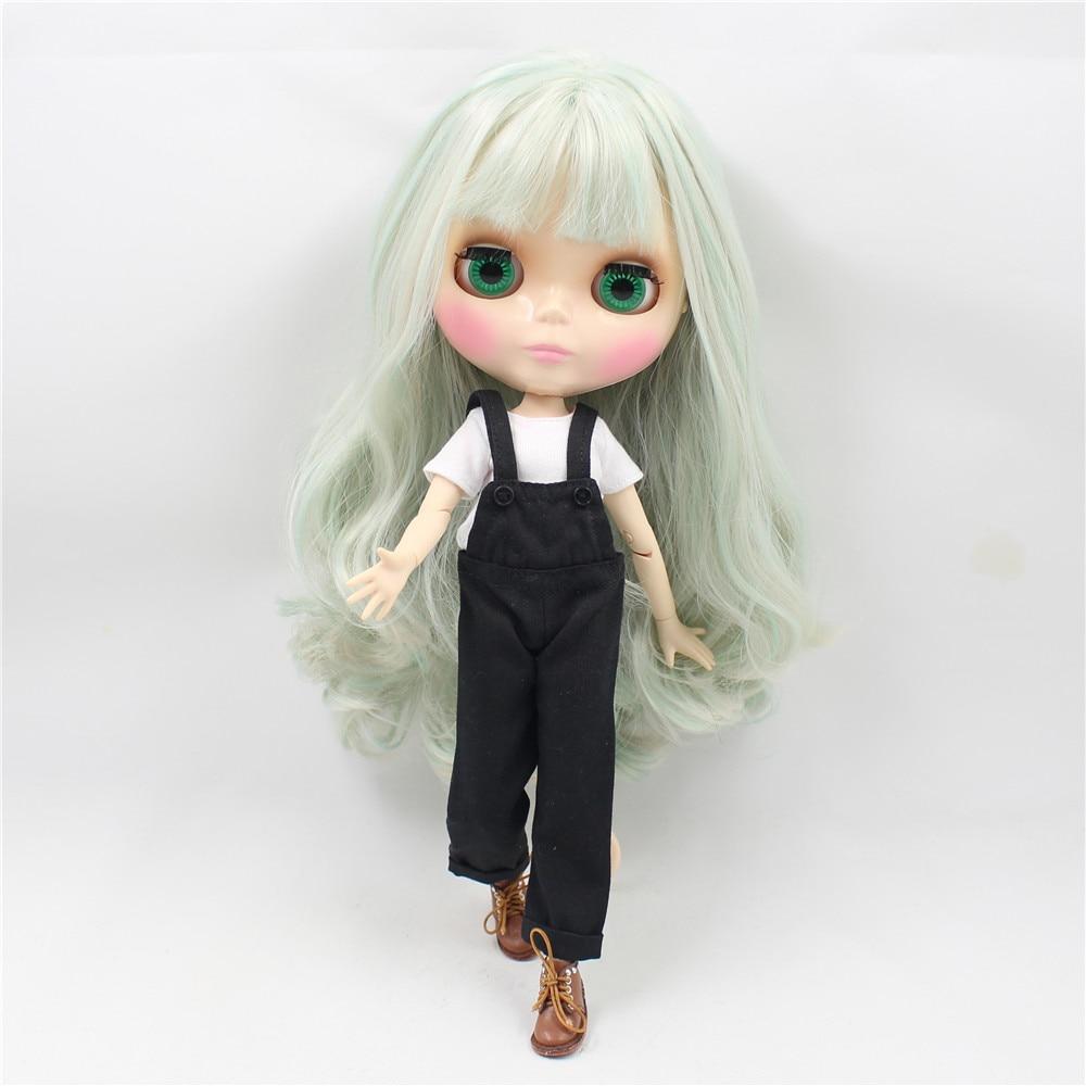 Neo Blythe Doll Black Rompers White Shirt 3