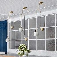 Современный Лофт Кухня Лифт освещение промышленного Творческий шкив висит свет Обеденная BAR дизайнер светодиодные фонари Бесплатная доста