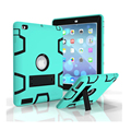 For Kids Safe Armor Shockproof Heavy Duty Silicon+PC Stand Back Case Cover For apple ipad 2 3 4 Tablet PC