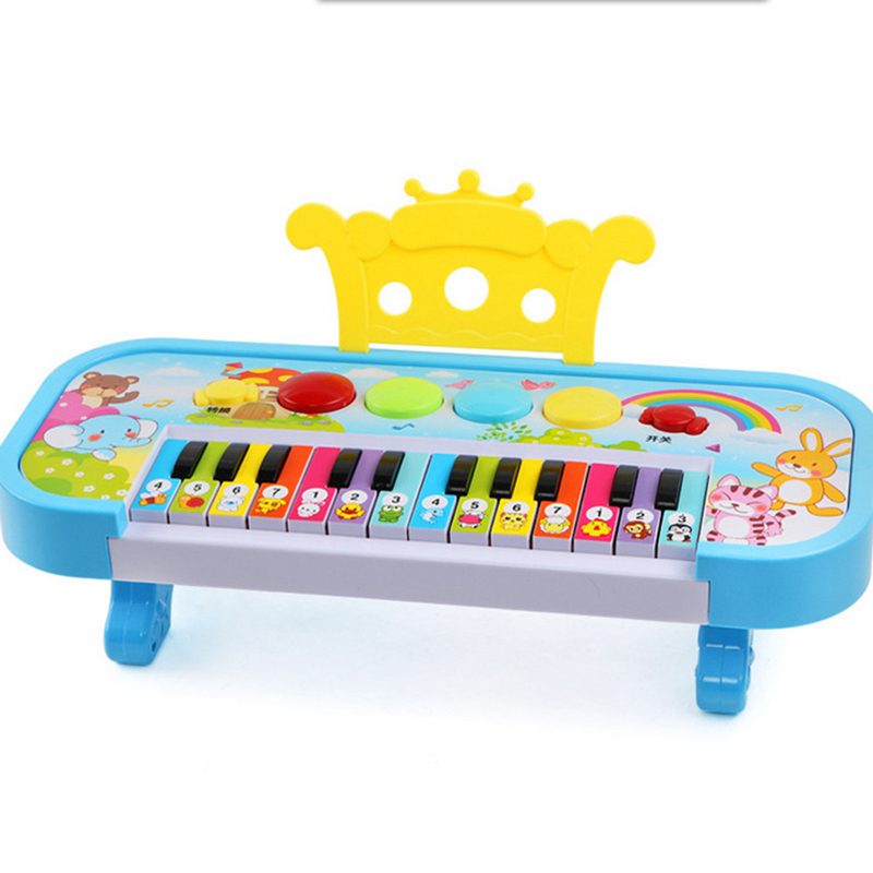 Educational Music Piano Keyboard with Flashing Lights Music Toy for Toddlers