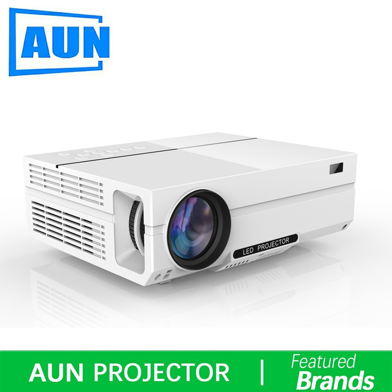 Brand AUN T26 Full HD Projector,4,500 Lumens LED Projector,Home Theater,HDMI VGA USB,1080P Movie Beamer original 6 5 inch lq065t9br51u lq065t9br53u lq065t9br54u lq065t9br53t for bmw car navigation system lcd screen without touch