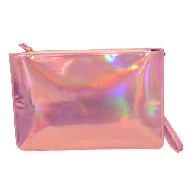 b1e6a98fe3a0 Women s Leather Handbags Fashion Laser Women Clutch Bag Envelope Bag Clutch Bags  Female Clutch Small Handbag Bolsa feminina 2018