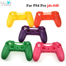 YuXi Replacement For Sony PS4 Pro Slim Wireless Controller Plastic JDS JDM 040 Cover Front Back Housing Shell Case