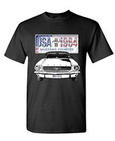 Graphic Make A Tee Shirt USA 1964 Ford Mustang Country America Car Mens Cotton T Shirt