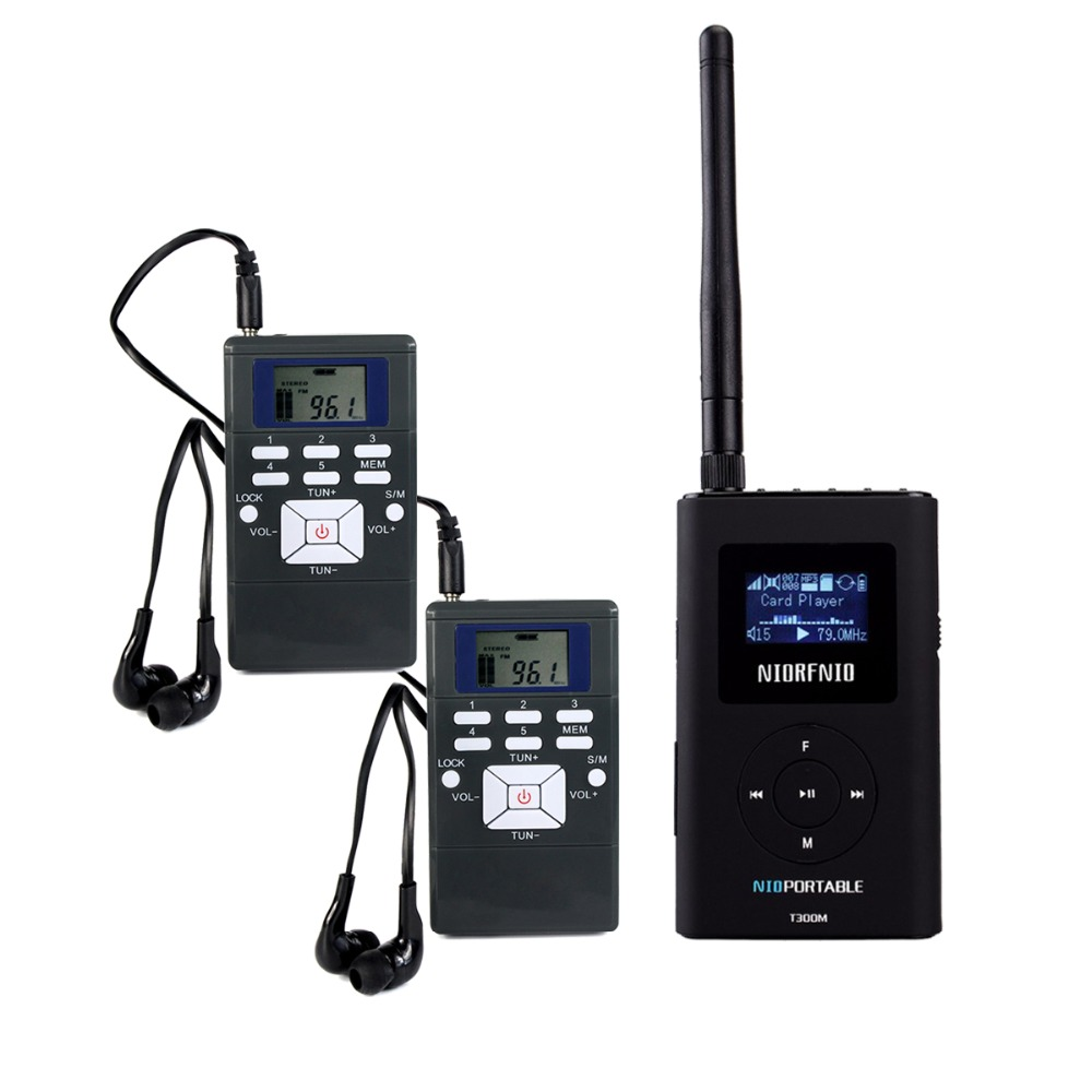 NIORFNIOWireless Tour Guide System For Guiding Church Meeting Translation 1 FM Transmitter+2 Radio Receiver Portable Radio Y4409 berry programming language translation