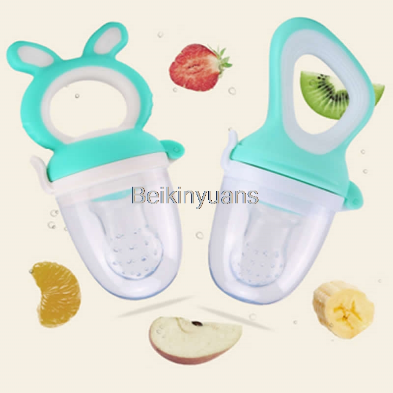 Portable Cartoon Rabbit Baby Food Pacifier Feeder Silicone Pacifier Fruit Feeding Products Pacifier Baby Feeding Tool Soothers