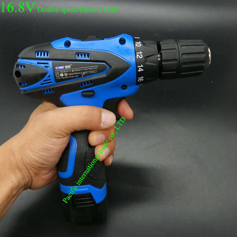 16.8V Electric Drill Cordless Screwdriver Rechargeable Parafusadeira Furadeira Electric Screwdriver Power Tools Free shipping стоимость