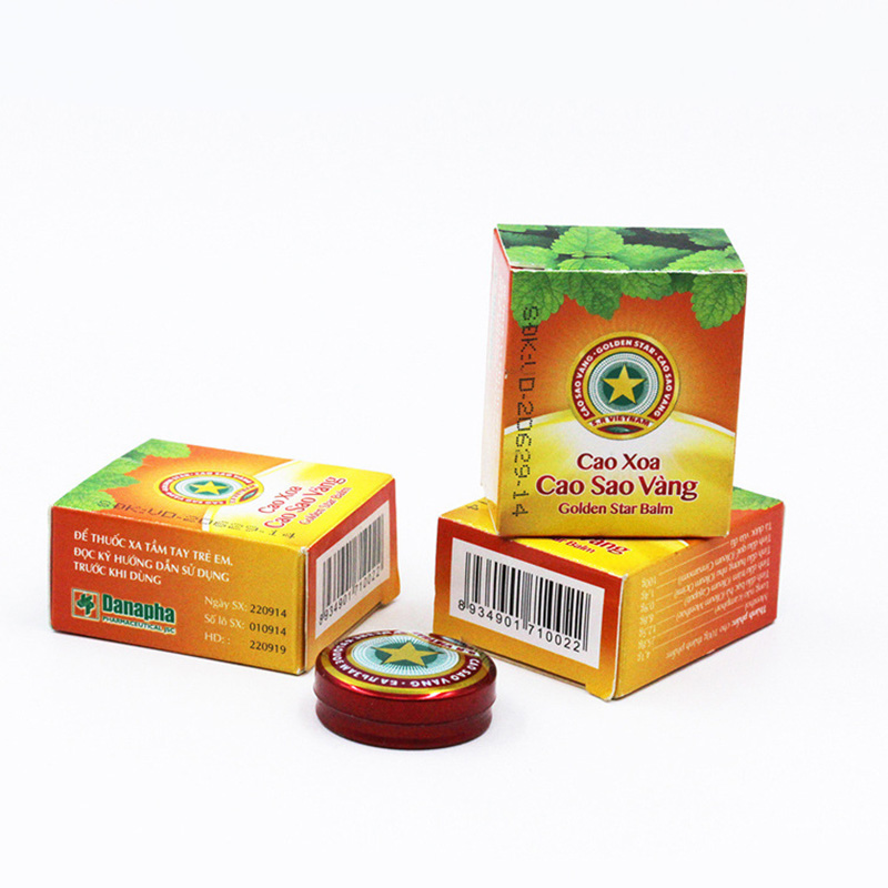 3pcs Vietnam Gold Tower Tiger Balm Ointment 4g For Cold Headache Stomachache Dizziness Heat Stroke Insect Stings Essential Balm