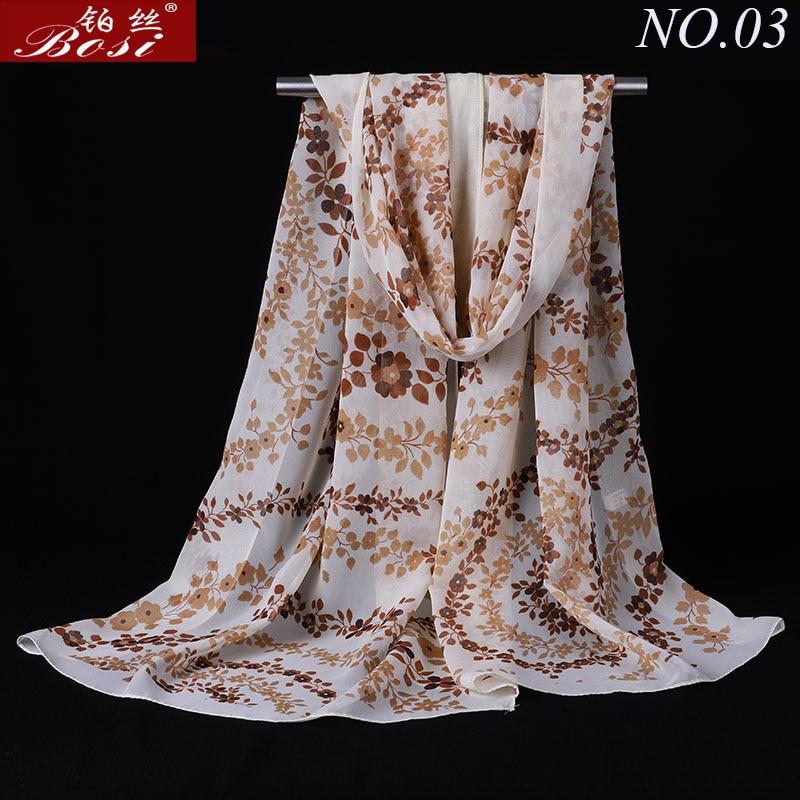 Print Chiffon Scarf Shawls Women Scarves Wraps Fashion Wrap Shawls Hijab Cape Female Stoles Floral Scarfs Muslim Wrap Factory ..
