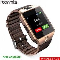 도매 DZ09 2 개 블루투스 스마트 시계 스마트 워치 휴대 전화 SIM TF 카드 Reloj Inteligente PK GT08 A1 U8 안드로이드 iOS