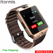 Wholesale DZ09 2PCS Bluetooth Smart Watch Smartwatch Mobile Phone SIM TF Card Reloj Inteligente PK GT08 A1 U8 for Android iOS