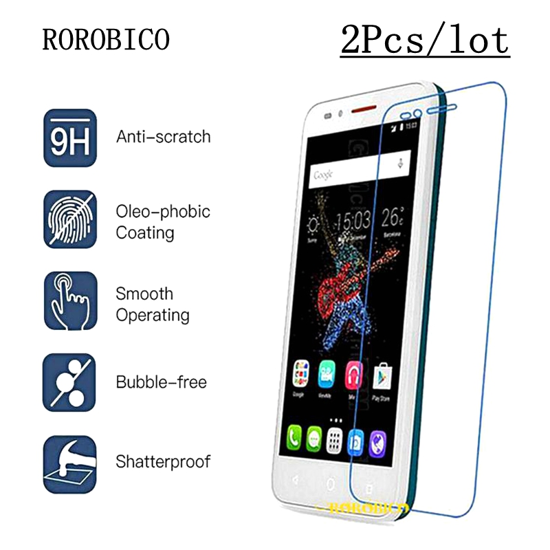 ROROBICO 2Pcs/lot Tempered Glass For Alcatel One Touch Go Play <font><b>7048X</b></font> Screen Protector 9H Hardness Full Transparent Film image