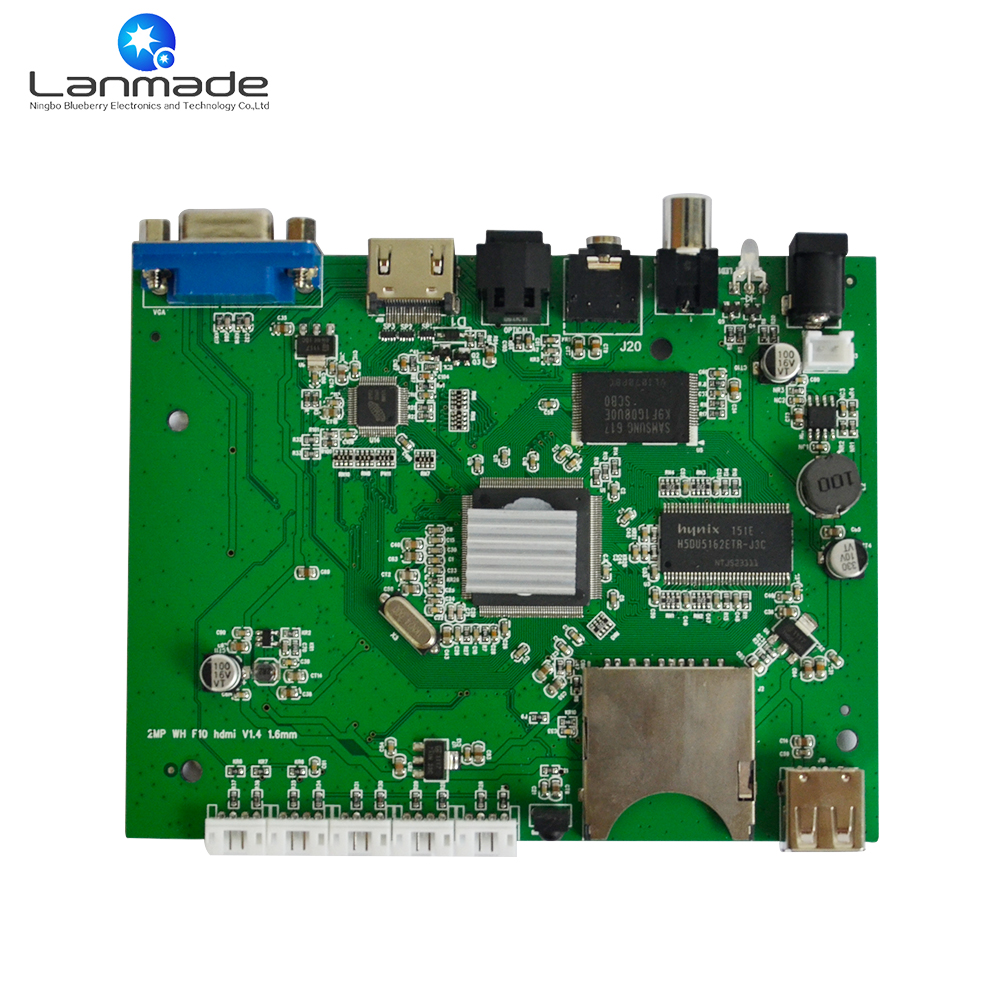 1080P video seamless switch push button function media player board