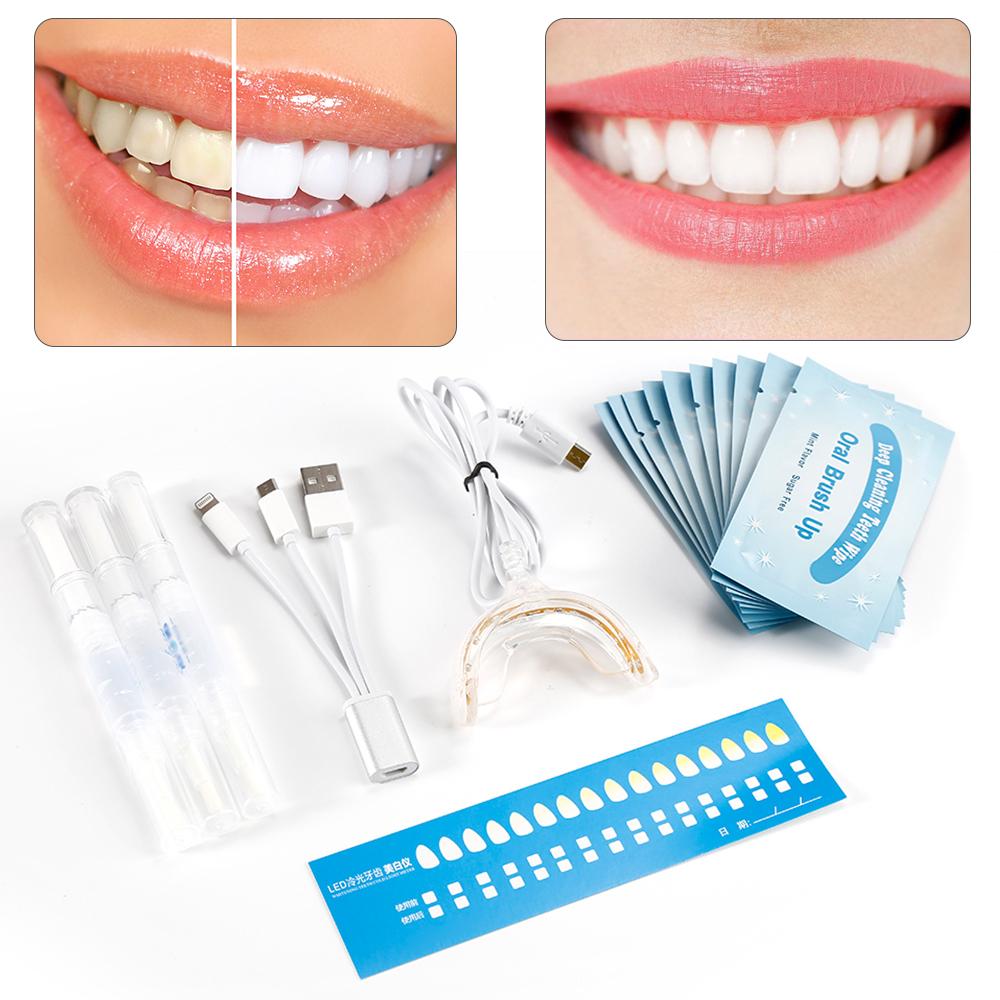 Profession Teeth Whitening Dental Teeth Instrument Set For Dentist Gel Cable Teeth Wire USB Dental Care Kit With Packaging 1 set dental rubber dam perforator puncher teeth care pliers dentist lab device instrument equipment free shipping