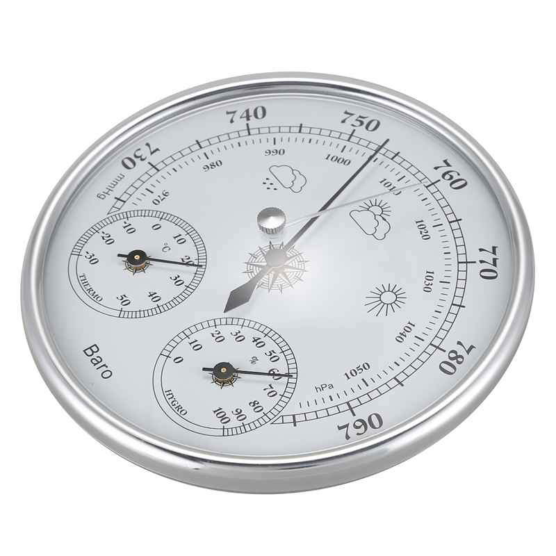 Image 5 - Wall Mounted Household Thermometer Hygrometer High Accuracy  Pressure Gauge Air Weather Instrument BarometerPressure Gauges   -