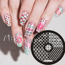 New Stamping Plate hehe78 Nail Art Stamping Quarter Template Winter Snowflake Nordic Knits Image Transfer DIY Tool Manicure