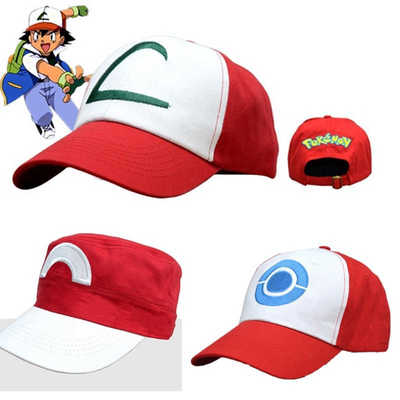 Anime Pocket Monster Topi Kostum Cosplay Topi Pokemon Ash Ketchum Cap Prop Anak Hadiah