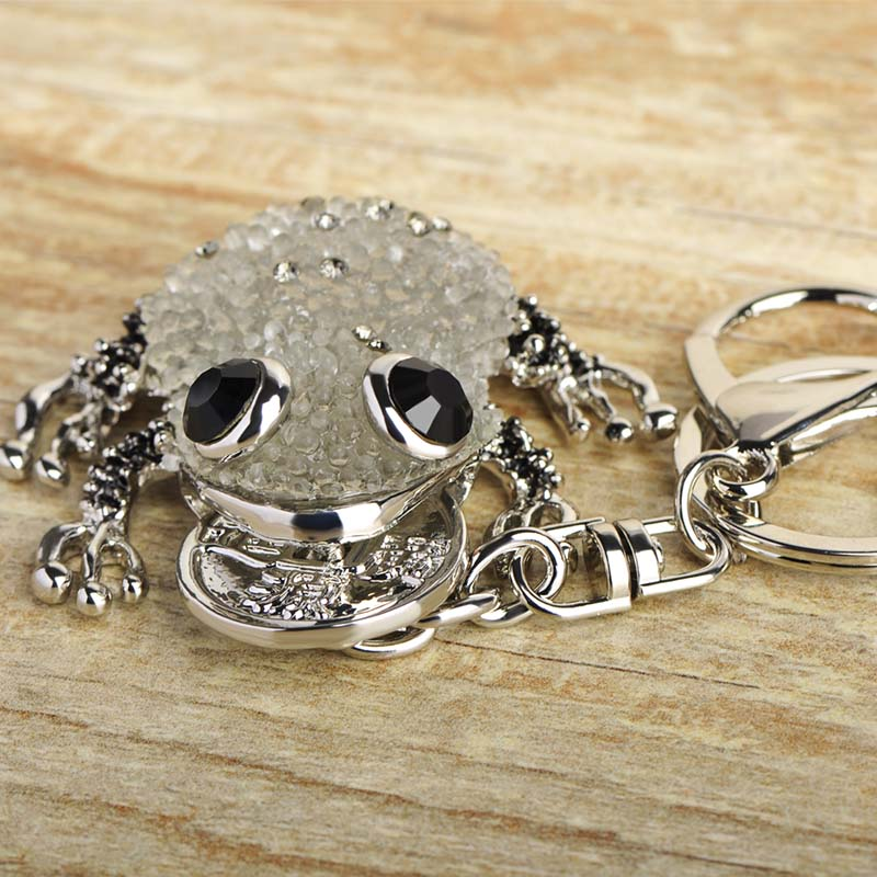 ... detailed images 5cd30 03b69 Blucome Kawaii Green Blue Lucky Toad  Keychains Women Present Chinese Wealth Frog ... cbbe71a1f