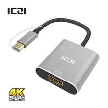 ICZI Thunderbolt 3 USB 3.1 Type C to HDMI 4K@30 Hz Aluminum Body Adapter for MacBook Chromebook Pixel Yoga 900 Lumia 950 / 950XL