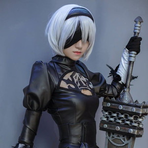 Image 5 - High quality YoRHa No.2 Type B 2BYoRH 2A 9S 2B wig Cosplay Wig NieR:Automata Costume Play Wigs Costumes Hair +Wig Cap