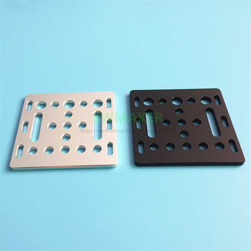 1pcs 3D Printer Part Openbuilds V-Slot Gantry Plate 20mm Black Silver Sand Blasting 65.5mmx65.5mmx3mm