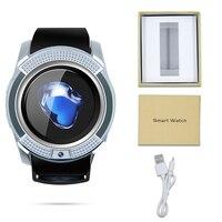 SOGRACE Relógios Smartwatch Inteligente Bluetooth V9 vida Inteligente-Mostrador do Relógio à prova d' água Chamada Relógio Inteligente Com a Poderosa Bateria 10 PCS