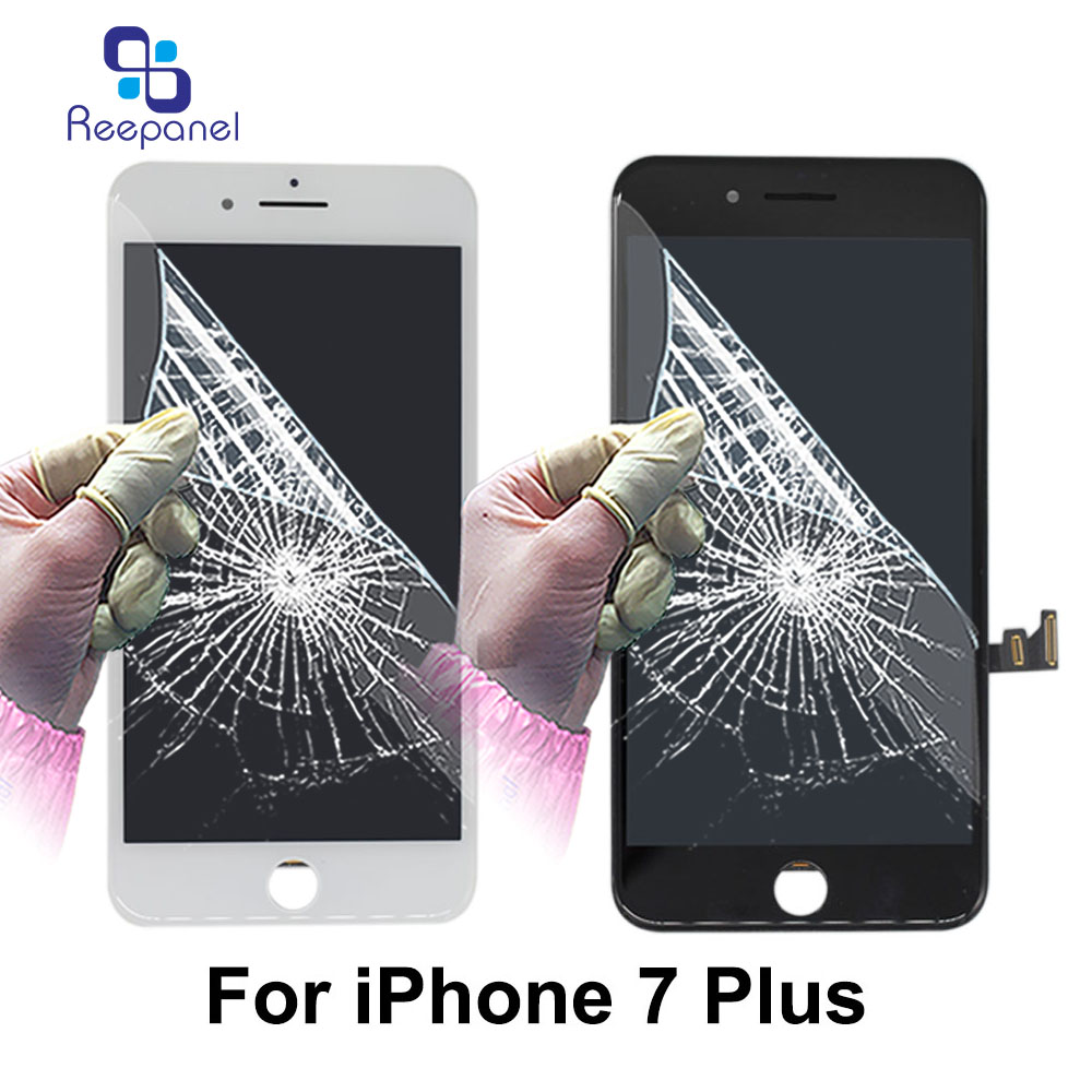 100% tested Reepanel For iPhone 7 plus LCD Display With Touch Screen 5.5 inch Mobile Pho ...