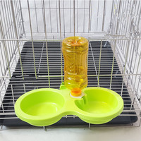 Pet Food Dual Port Dog Feeder Utensils Bowl New Drinking Fountain Dish Automatic High Quality Water