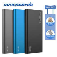 Supersonic P20 Portable SSD 128GB 256GB 512GB Typc-C USB 3.0 External Solid State Drive for Computer Laptop Mac