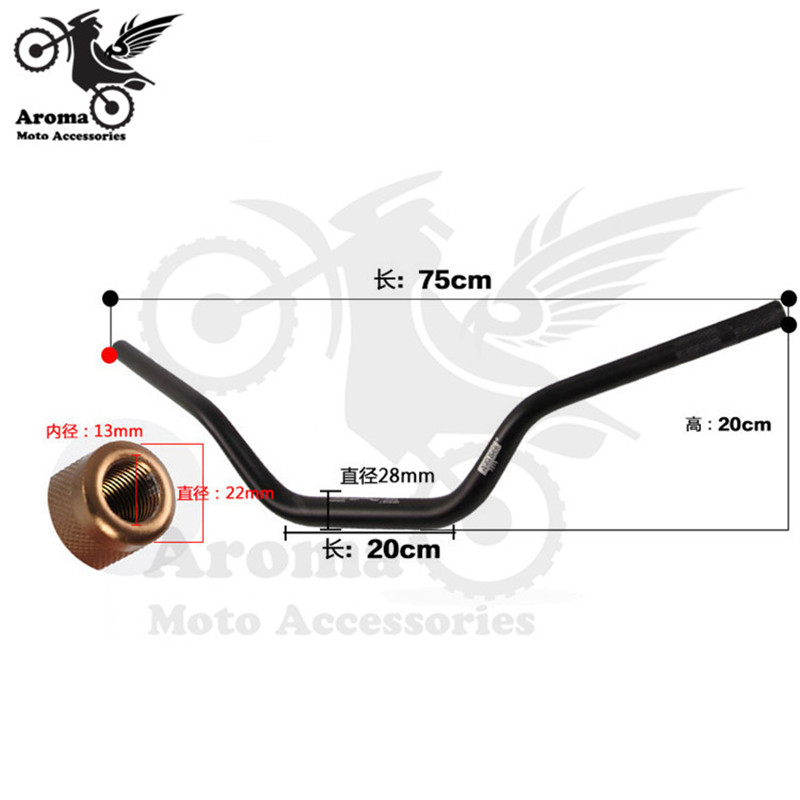 Top Quality Aluminum Alloy Scooter Handle bar Modified Motorbike Handlebar Motorcycle Accessories Retro Dirtbike ATV Handlebar - 3