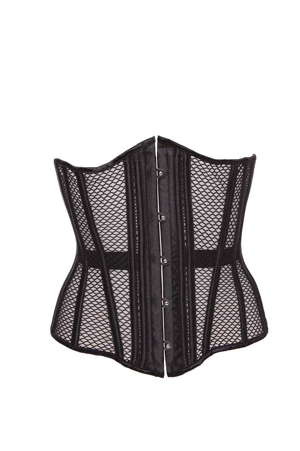 free shipping Summer Women Body Shaper   Bustiers   &   Corsets   Mesh Net Intimates Shapewear Steel Boned Hollow Out   Corset   QF931