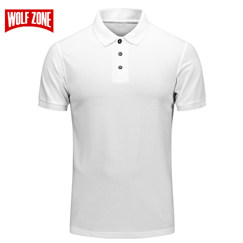 Brand   Polo   Shirt Men Summer Casual Solid Color Cotton Poloshirt Black Slim Breathable Short Sleeve Mens Clothing Big Size M-4XL