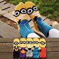 Nuevo Llegado Momen Minions Algodón Calcetines Para Mujer Linda Del Estilo Coreano Calcetines Colores Del Caramelo Corto En Tubo Calcetín