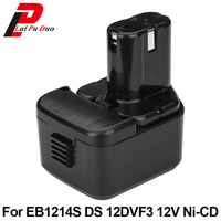 Brand New 2 0Ah 12V NI CD Power Tool Replacement Battery For Hitachi EB1214S FWH12DF EB1220HL
