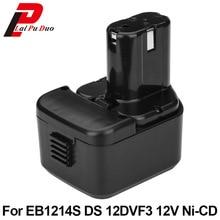 Новый 2.0Ah 12 В NI-CD электроинструмента Аккумулятор для hitachi: EB1214S, FWH12DF, EB1220HL, DS12DVF2, EB1220HS, WH12DM2, EB1230X