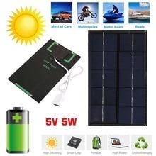 Portable 2W 5V USB Solar Panel Charger Panel USB Port for Mobile Phone Travel --M25