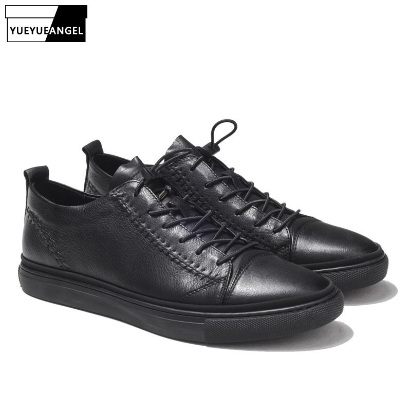 Luxury Men Genuine Leather Casual Shoes Lace Up Flats Driving Shoes Male 2019 Trainer Low Top Summer Sneakers Black Punk SapatosLuxury Men Genuine Leather Casual Shoes Lace Up Flats Driving Shoes Male 2019 Trainer Low Top Summer Sneakers Black Punk Sapatos