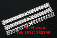 Hot white ceramic strap for Swatch Swatch YGS716 YAS100 YLS141 watch accessories