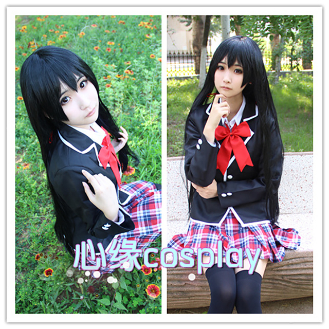 Anime My Remaja Komedi Romantis Yang Salah Yukino Yukinoshita Cosplay Setelan Kostum Gadis Sekolah