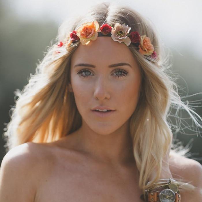 Online Fashion Female Bohemia Wreath Hairband Handmade Flower Crown Headband Women Wedding Bridal Headdress Hair Accessories Aliexpress Mobile