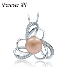 2016 Modern Massive Cross Pearl Necklaces & Pendants For Girls Sailor Moon Jewellery 925 Sterling Sliver High quality Pearl Jewerly Reward