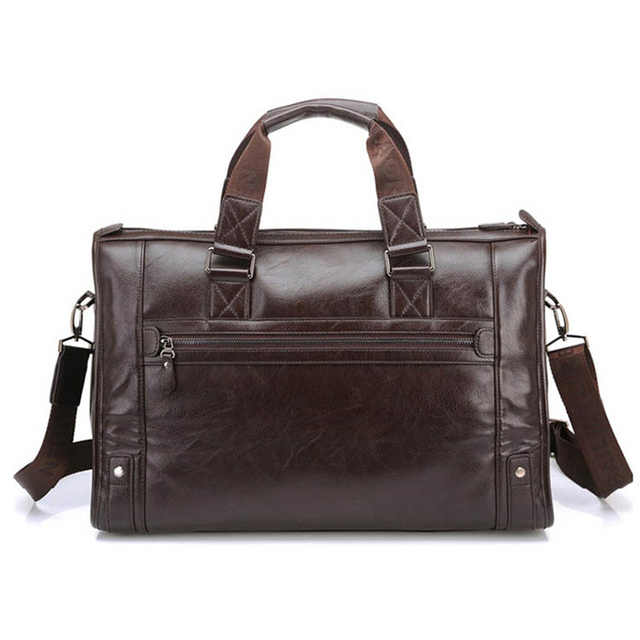 Man Bag Leather Black Briefcase Men Business Handbag Messenger Bags Male Vintage Men's Shoulder Bag Large Capacity 4