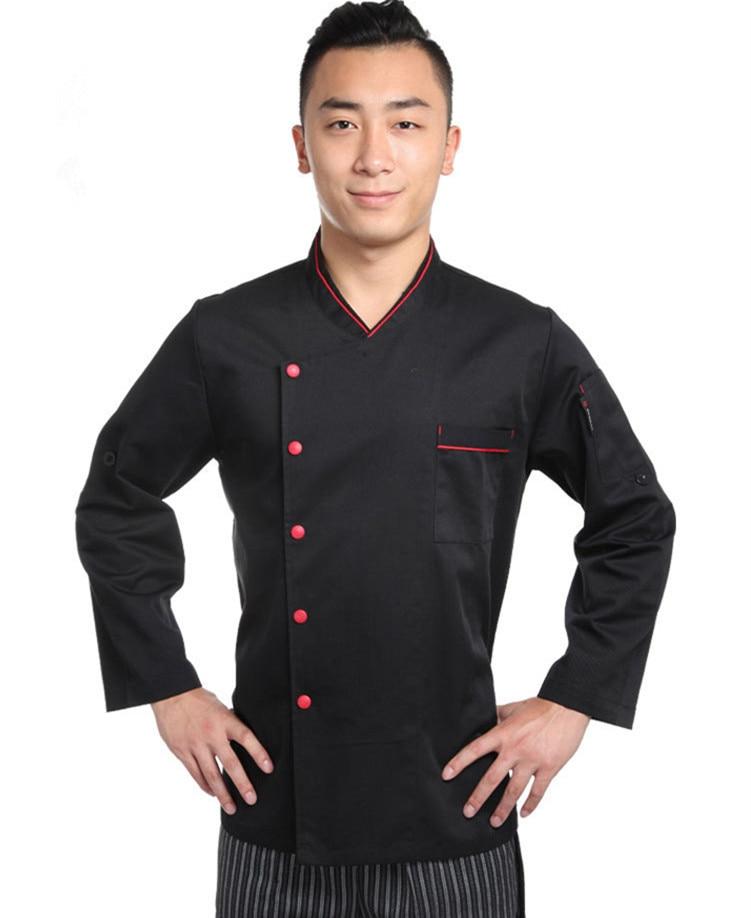 Uniformes de chef negros para hombres restaurante chino