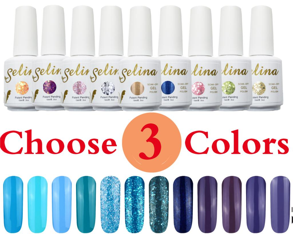 Choose 3 Selina Nail Gel Polish Soak Off Uv 30 Days Long Lasting 15ml 6 5ml Free Ship In From Beauty Health On Aliexpress