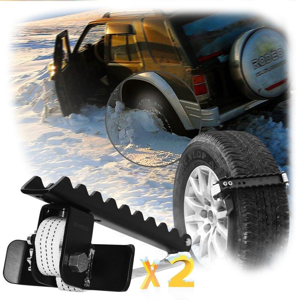 EZUNSTUCK Pneu Anti-Dérapage Outil-RWD/AWD/4x4 SUV, Camions, Pickup-EZ-D02ML, sable, Neige, Glace, Mieux Que De Traction Tapis, chaine pour pneus